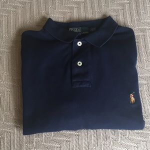 Navy polo shirt by Polo Ralph Lauren, size L